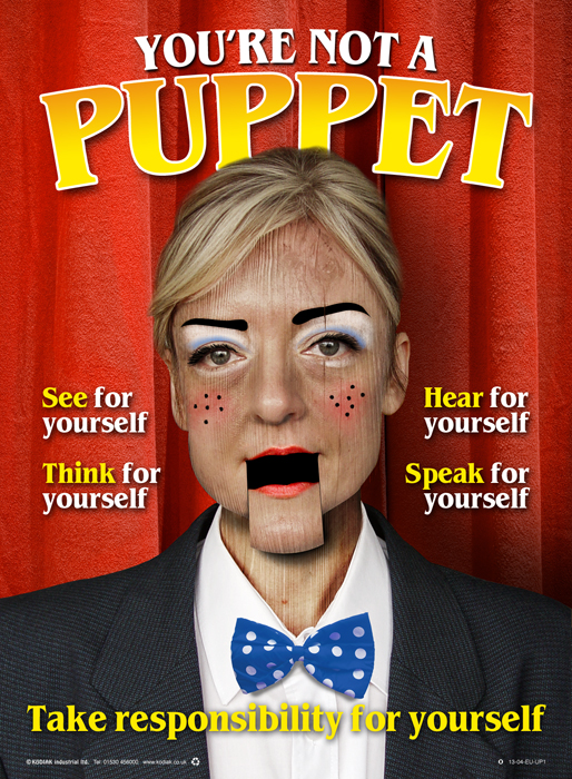 You're not a puppet