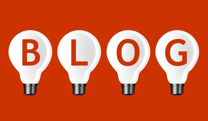 BLOG-written-in-four-white-lightbulbs-on-red-background