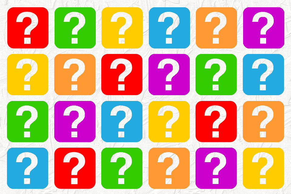 Colourful-question-marks-in-grid