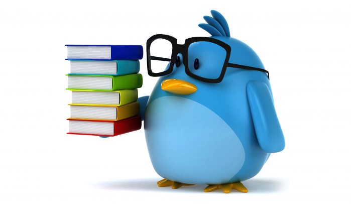 Blue-bird-with-glasses-and-books